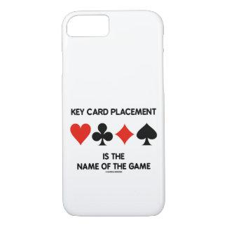 Capa iPhone 8/ 7 A colocação do cartão chave é o nome de The Game