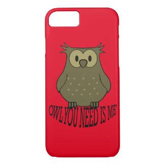 Capa iPhone 8/ 7 a coruja que você precisa é mim