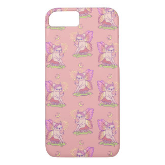 Capa iPhone 8/ 7 A fada bonito de Frenchie está moldando um período