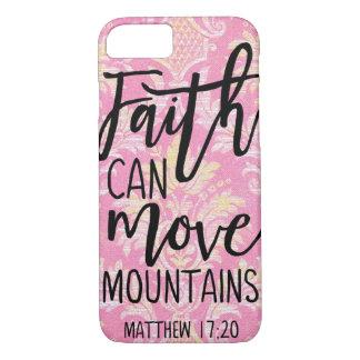 Capa iPhone 8/ 7 A fé pode mover a opinião cristã das citações das