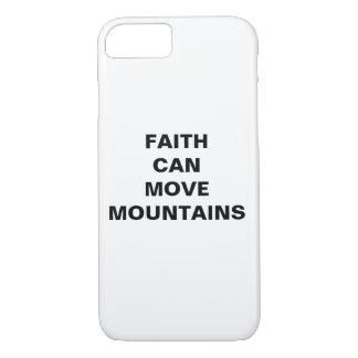 "Capa iPhone 8/ 7 A ""fé pode mover iPhone de Apple das montanhas"""