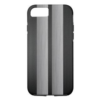 Capa iPhone 8/ 7 A fibra do alumínio e do carbono olha de