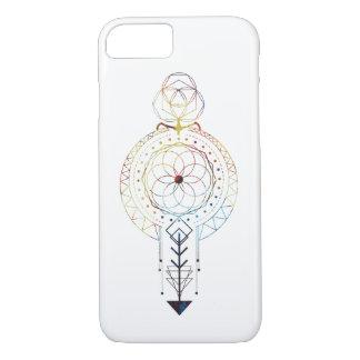 Capa iPhone 8/ 7 A geometria sagrado projetou o caso do iPhone 7