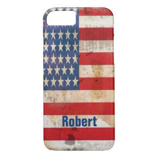 Capa iPhone 8/ 7 A glória velha Stars listras afligiu a bandeira