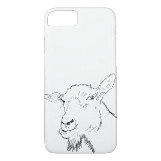 Capa iPhone 8/ 7 A lápis à moda design animal da cabra engraçada da