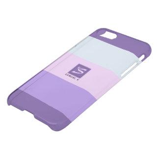 Capa iPhone 8/7 A lavanda delicada sonha o monograma da paleta de