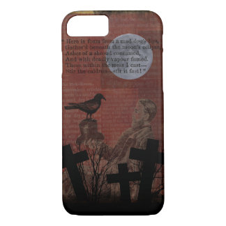 Capa iPhone 8/ 7 A lua do corvo do vintage do Dia das Bruxas