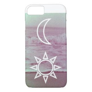 Capa iPhone 8/ 7 A lua e Sun projetam o caso do iPhone 7 mal lá