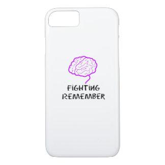 Capa iPhone 8/ 7 A luta roxa da consciência de Alzheimers recorda