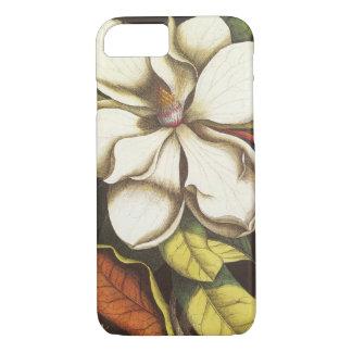 Capa iPhone 8/ 7 A magnólia do vintage floresce a planta com