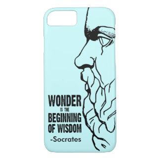 Capa iPhone 8/ 7 A maravilha é o começo da sabedoria - citações de