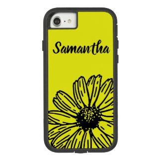Capa iPhone 8/ 7 A margarida brilhante simples amarela do