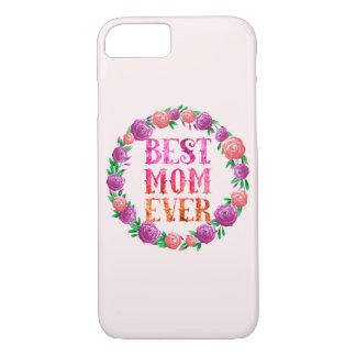 Capa iPhone 8/ 7 A melhor grinalda floral da mamã nunca -