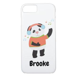 Capa iPhone 8/ 7 A música de dança do urso de panda personaliza
