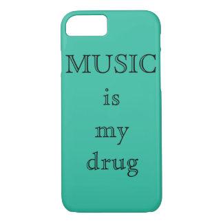 Capa iPhone 8/ 7 A música é meu caso de IPhone 7Plus da droga