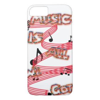 Capa iPhone 8/ 7 A música é tudo que nós obtivemos o caso