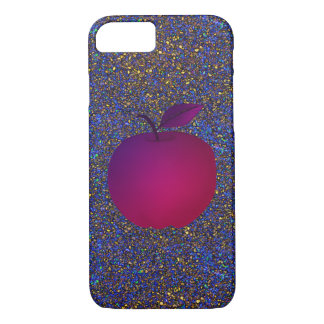 Capa iPhone 8/ 7 A noite Apple roxo do brilho frutifica encanto
