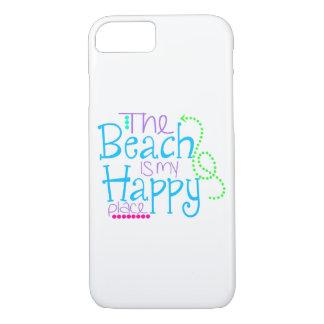 Capa iPhone 8/ 7 A praia é meu caso feliz de Iphone 7 do lugar