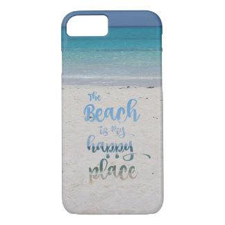 Capa iPhone 8/ 7 A praia é meu lugar feliz