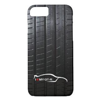 Capa iPhone 8/ 7 A skyline GT-r com pneu pisa