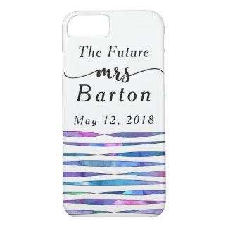 """Capa iPhone 8/ 7 """"A Sra. futura"""" flâmulas 2 da aguarela da"""
