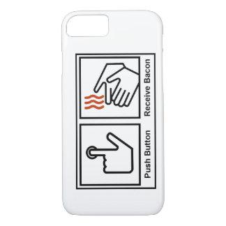 Capa iPhone 8/ 7 A tecla, recebe o bacon