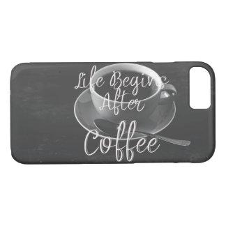 Capa iPhone 8/ 7 A vida começa após o café