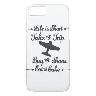 Capa iPhone 8/ 7 A vida é curta