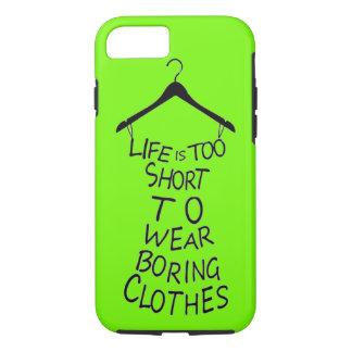 Capa iPhone 8/ 7 A vida é demasiado curta vestir caixa aborrecida