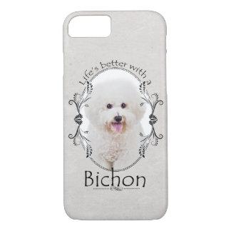 Capa iPhone 8/ 7 A vida é melhor caso de Bichon Smartphone