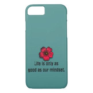 Capa iPhone 8/ 7 A vida é somente tão boa quanto nosso mindset.