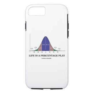 Capa iPhone 8/ 7 A vida é um humor do Stats da curva de Bell do