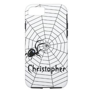 Capa iPhone 8/ 7 A Web de aranhas apenas adiciona o nome