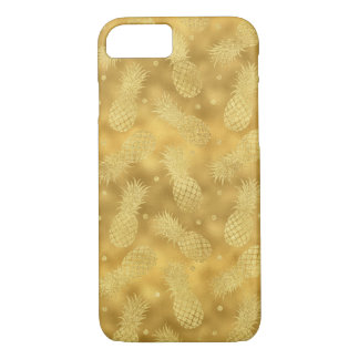 Capa iPhone 8/ 7 Abacaxis chamativos do ouro