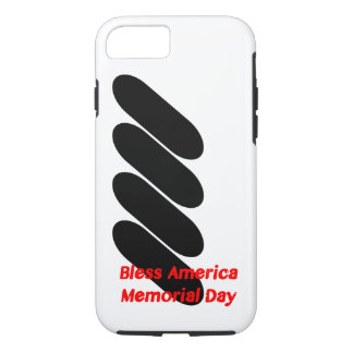 Capa iPhone 8/ 7 Abençoe o caso do Memorial Day de América