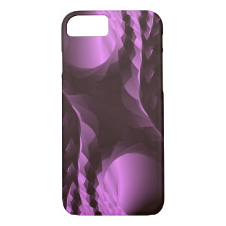 Capa iPhone 8/ 7 Abstrato roxo elegante do preto