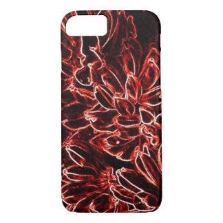 Capa iPhone 8/ 7 Abstrato vermelho tropical do néon