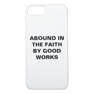 """Capa iPhone 8/ 7 """"Abunde na fé…"""" iPhone de Apple 8/7 de caso"""
