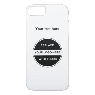 Capa iPhone 8/ 7 Adicione seu logotipo do negócio