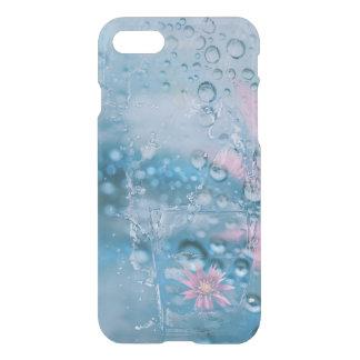 Capa iPhone 8/7 Água bonita e caso de vidro de queda das gotas