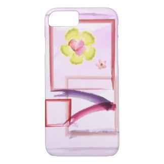 Capa iPhone 8/ 7 Aguarela cor-de-rosa do algodão doce