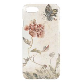 Capa iPhone 8/7 Aguarela da abelha, da borboleta e da papoila do
