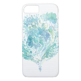 Capa iPhone 8/ 7 Aguarela do abstrato do coração do mar