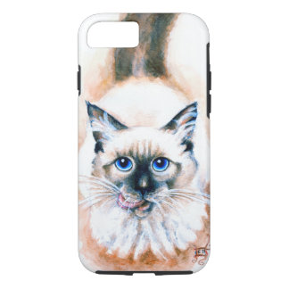 Capa iPhone 8/ 7 Aguarela do gato Siamese