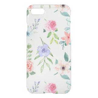 Capa iPhone 8/7 Aguarela Pastel sem emenda floral