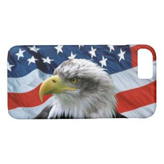 Capa iPhone 8/ 7 Águia americana e bandeira americana