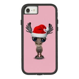 Capa iPhone 8/ 7 Alces do bebê que vestem um chapéu do papai noel