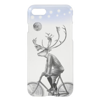 Capa iPhone 8/7 Alces na bicicleta do vintage da equitação do