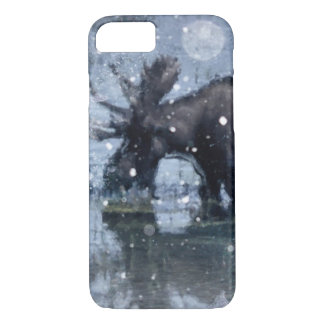 Capa iPhone 8/ 7 Alces rústicos do touro dos animais selvagens da