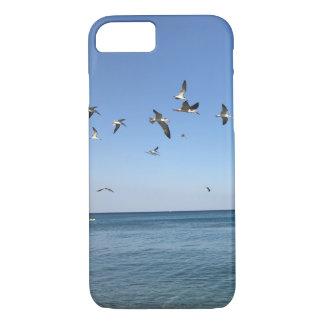 Capa iPhone 8/ 7 alguns pássaros impressionantes na praia